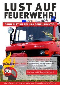 Plakat Kinderfeuerwehr Jheringsfehn 22.07.16